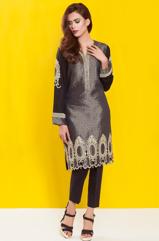 Cross Stitch Winter Printed & Embroidered Dresses Collection 2015-2016 (3)