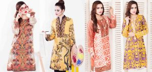 Cross Stitch Winter Printed & Embroidered Dresses Collection 2015-2016