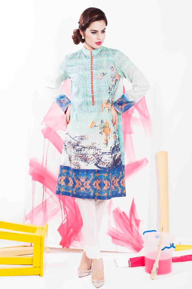 Cross Stitch Winter Printed & Embroidered Dresses Collection 2015-2016 (4)