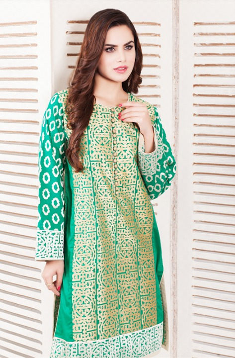 Cross Stitch Winter Printed & Embroidered Dresses Collection 2015-2016 (5)