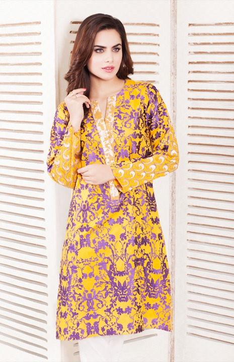 Cross Stitch Winter Printed & Embroidered Dresses Collection 2015-2016 (6)
