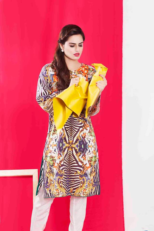 Cross Stitch Winter Printed & Embroidered Dresses Collection 2015-2016 (7)