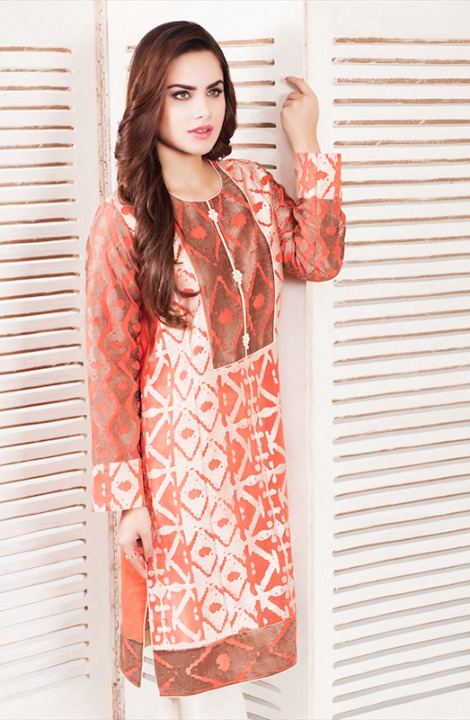 Cross Stitch Winter Printed & Embroidered Dresses Collection 2015-2016 (8)