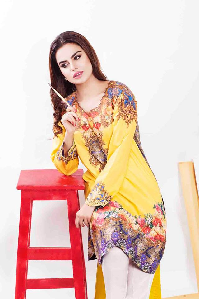Cross Stitch Winter Printed & Embroidered Dresses Collection 2015-2016 (9)