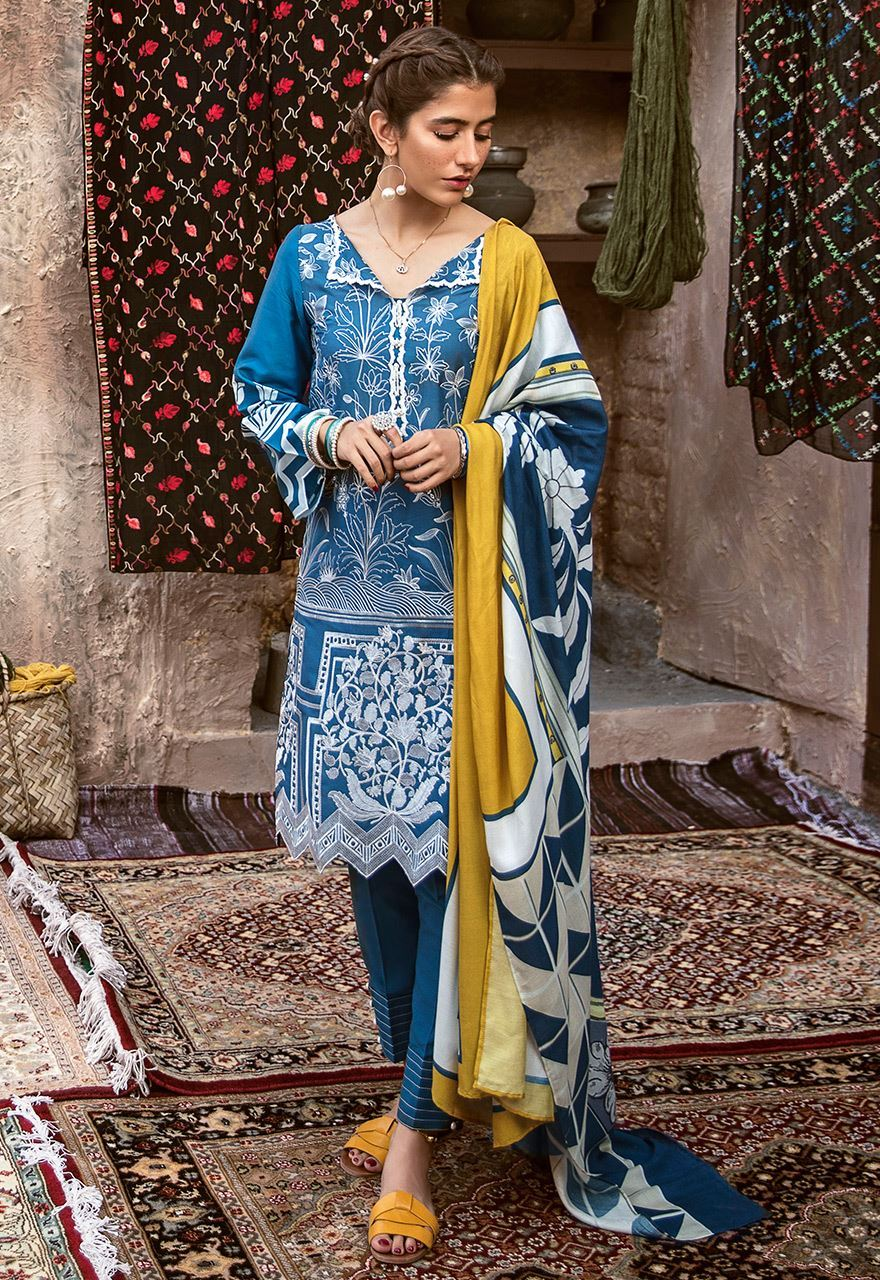 Cross Stitch Winter Printed Embroidered Dresses Collection