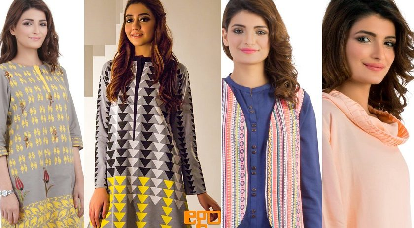 EGO Winter Designs Ladies Kurta Collection 2015-2016