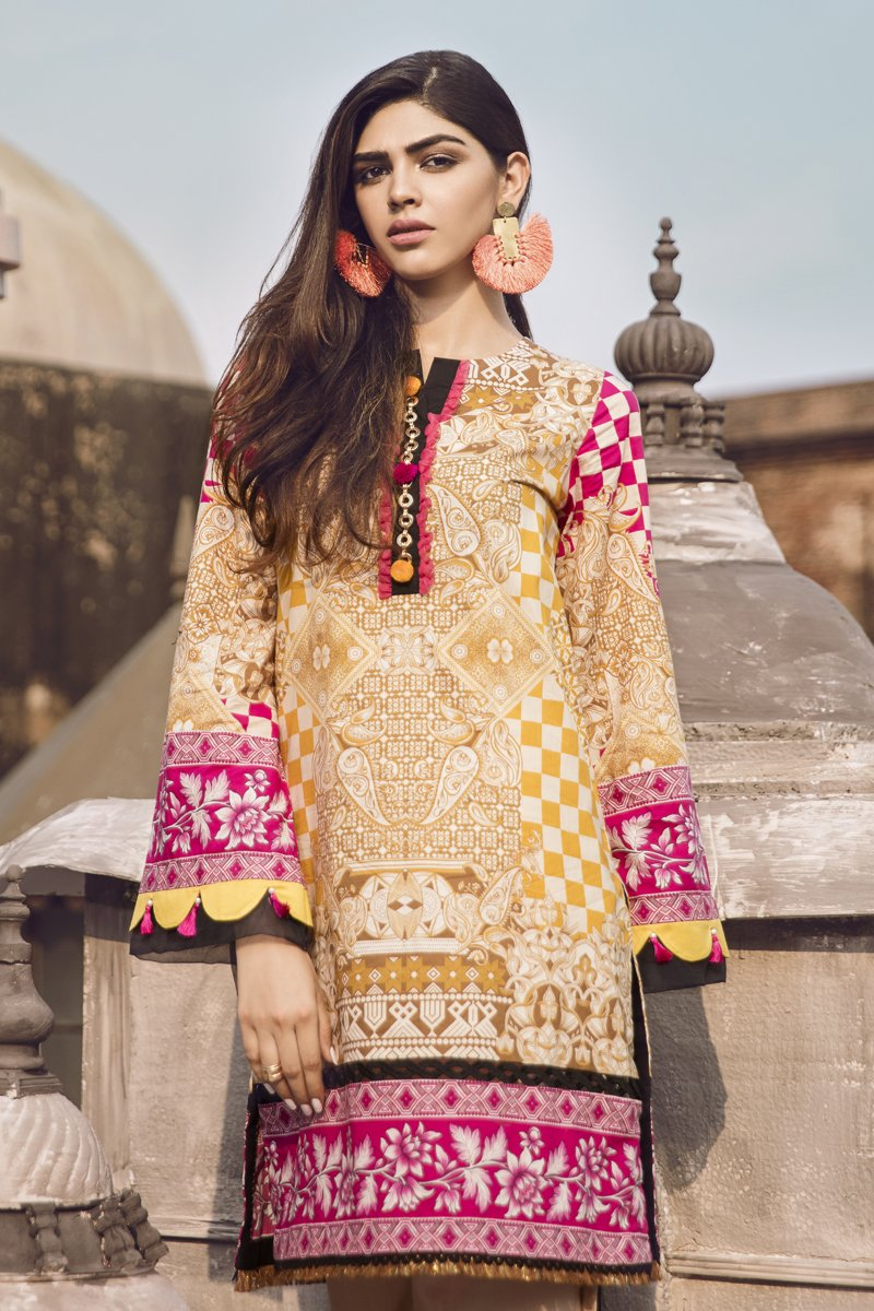 23a65a4c24 Here we are sharing the beautiful Ethnic by Outfitters Stylish Winter  Shirts Dresses 2018-2019 Designs.