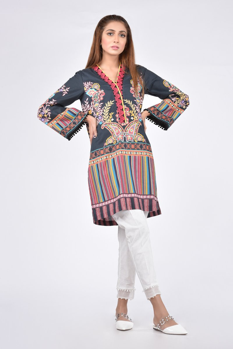 3ba620b113 Ethnic by Outfitters Stylish Winter Shirts Dresses Designs Collection 2018- 2019 (2)