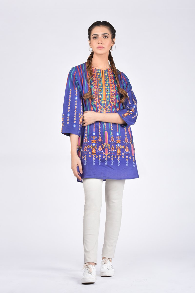 7f2674f17f Ethnic by Outfitters Stylish Winter Shirts Dresses Designs Collection  2018-2019 (29)