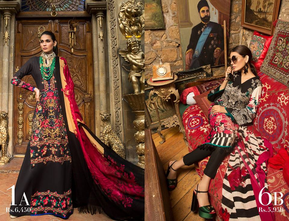 Latest Sana Safinaz Winter Shawl Dresses Collection 2017-2018 images 2