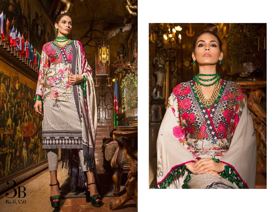 Latest Sana Safinaz Winter Shawl Dresses Collection 2017-2018