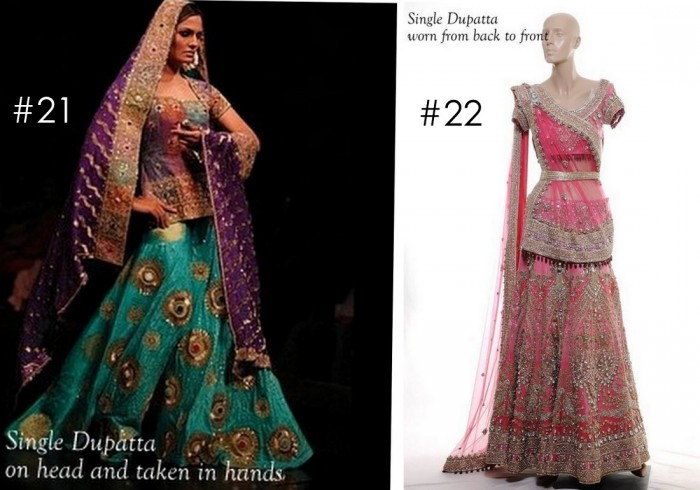 10 Best Ways to Style & Drape Dupattas for Indian & Pakistani Brides (10)