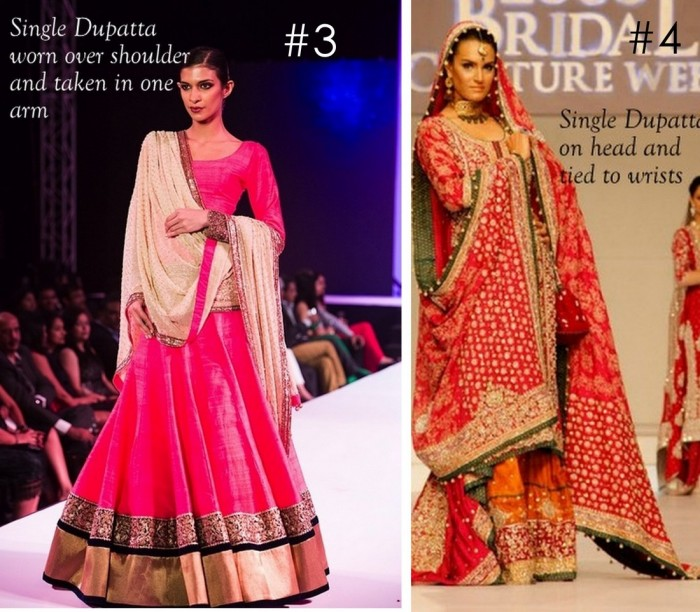 10 Best Ways to Style & Drape Dupattas for Indian & Pakistani Brides (4)