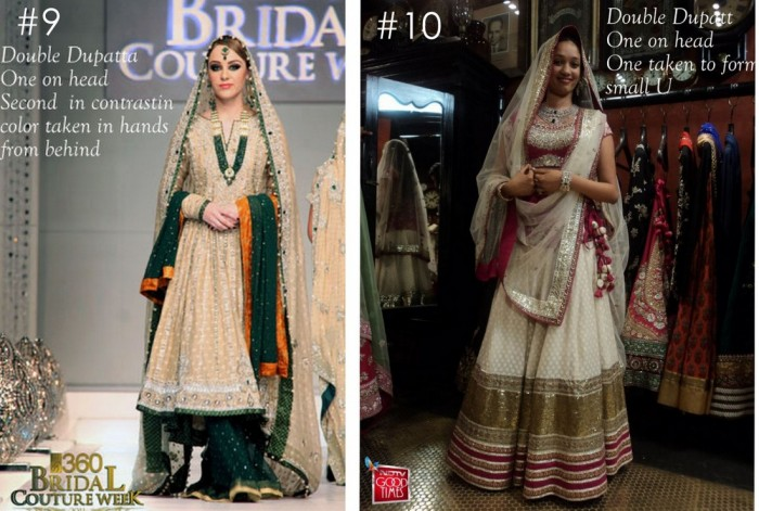 10 Best Ways to Style & Drape Dupattas for Indian & Pakistani Brides (5)