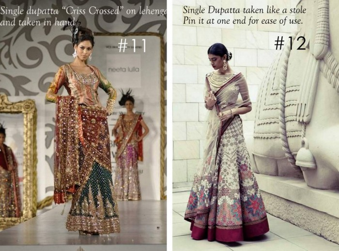 10 Best Ways to Style & Drape Dupattas for Indian & Pakistani Brides (6)