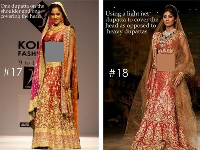 10 Best Ways to Style & Drape Dupattas for Indian & Pakistani Brides (8)
