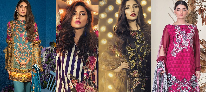 Alkaram Fall Winter Embroidered Dresses Collection 2017-2018
