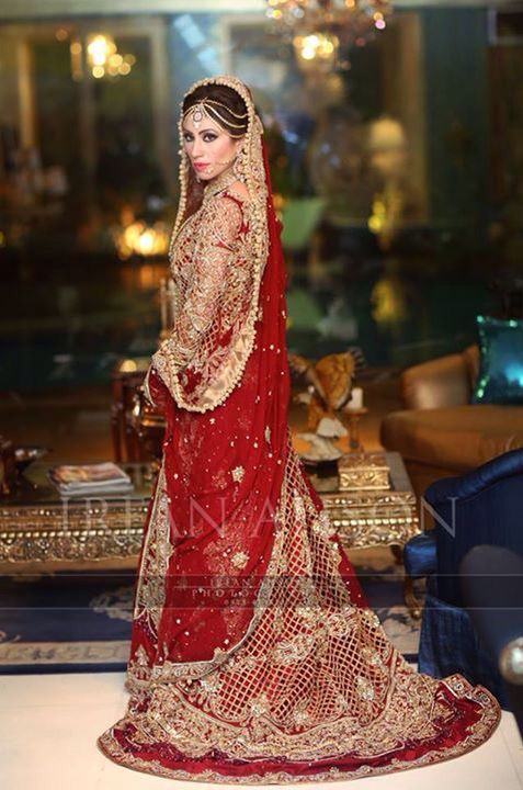 Latest asian bridal gowns designs 2016 2017 collection for Asian red wedding dresses
