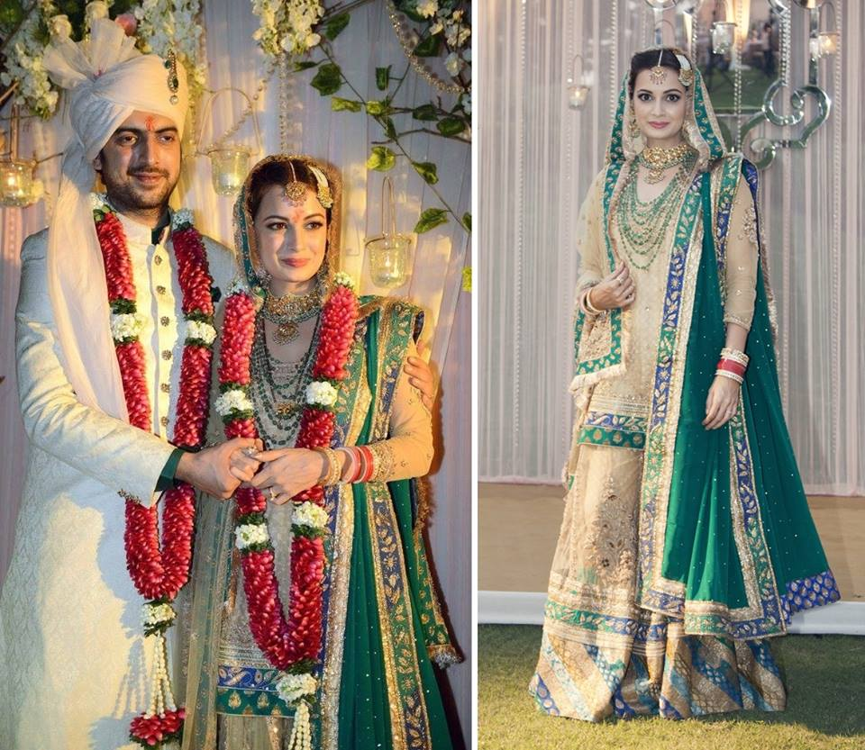 Dia Mirza- Top 10 Famous Indian Celebrity Wedding Dresses Trends (3)