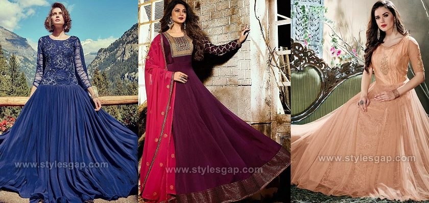 Embroidered Fancy Umbrella Dress & Frocks & Styles Collection 2019-2020