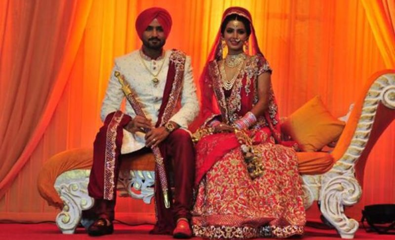 Geeta Basra- Top 10 Famous Indian Celebrity Wedding Dresses Trends (2)