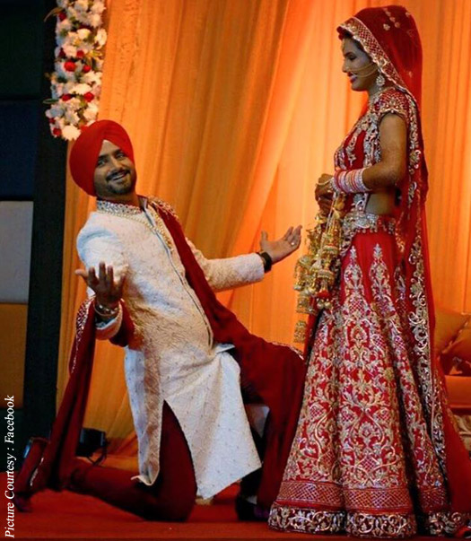 Geeta Basra- Top 10 Famous Indian Celebrity Wedding Dresses Trends (3)