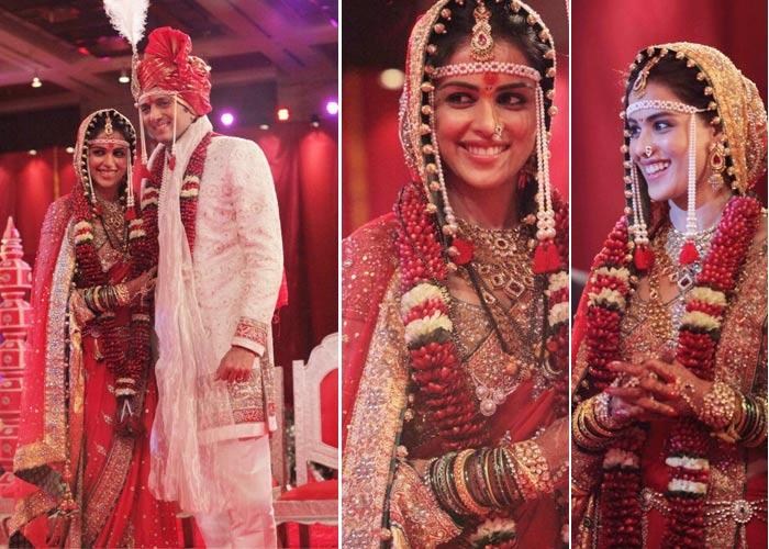 Genelia Deshmukh- Top 10 Famous Indian Celebrity Wedding Dresses Trends (2)