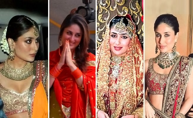 Kareena Kapoor Saif- Top 10 Famous Indian Celebrity Wedding Dresses Trends (1)