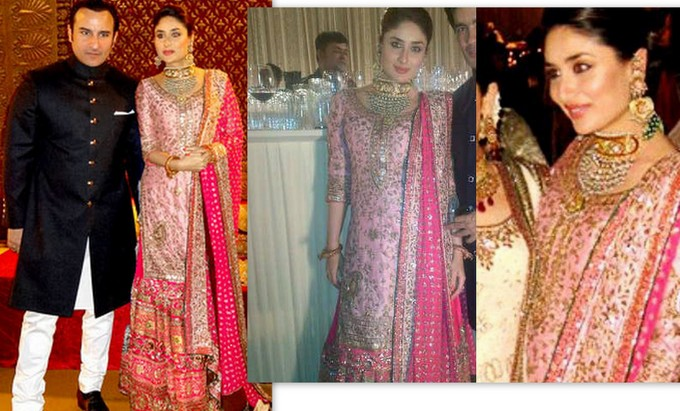 Kareena Kapoor Saif- Top 10 Famous Indian Celebrity Wedding Dresses Trends (2)
