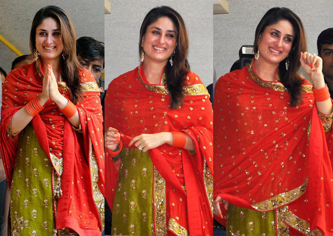 Kareena Kapoor Saif- Top 10 Famous Indian Celebrity Wedding Dresses Trends (3)