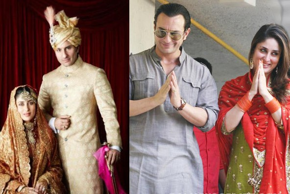 Kareena Kapoor Saif- Top 10 Famous Indian Celebrity Wedding Dresses Trends (4)