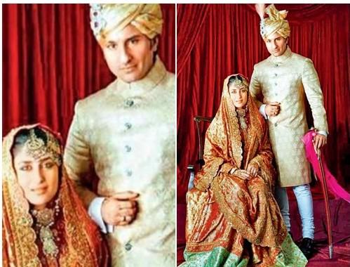 Kareena Kapoor Saif- Top 10 Famous Indian Celebrity Wedding Dresses Trends (5)