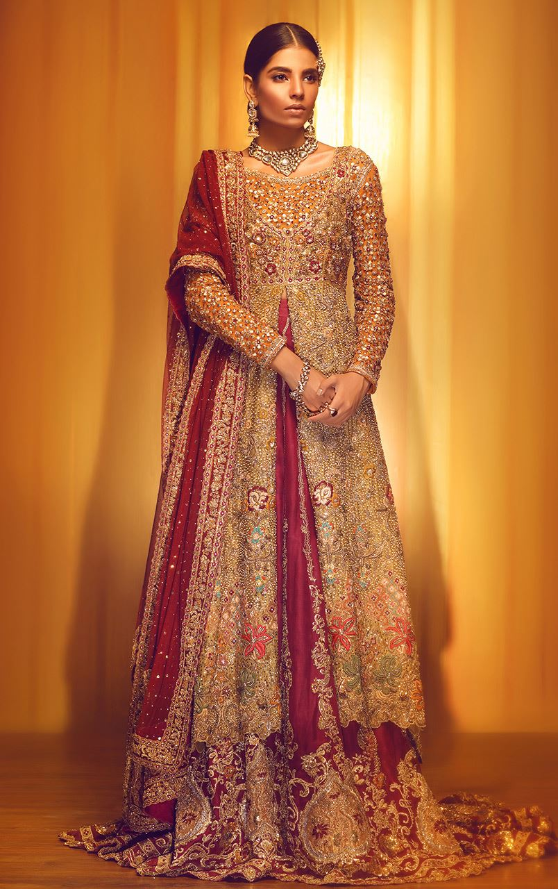 Latest asian bridal wedding gowns designs 2018 2019 collection for Wedding dress t shirt designs