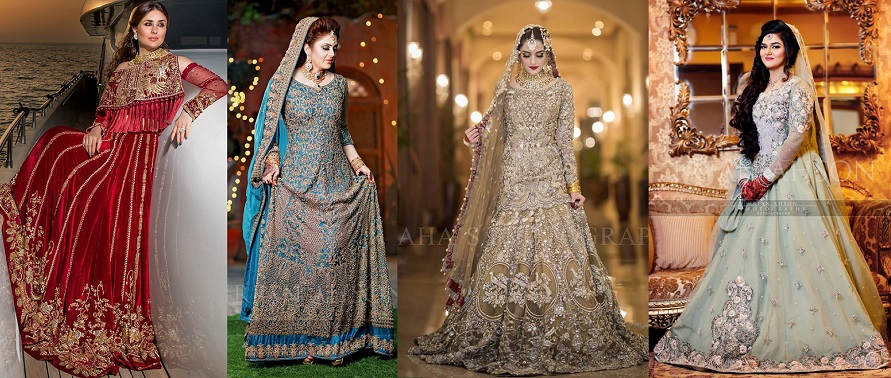 2521fae3d5 Latest Asian Bridal Wedding Gowns Designs 2018-2019 Collection