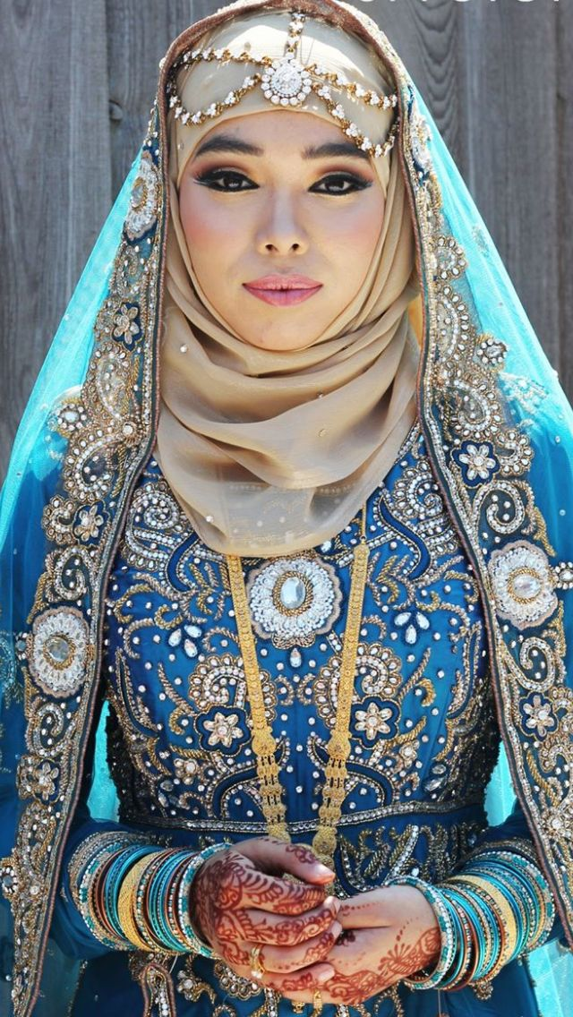 Latest Bridal Hijab Styles Dresses Designs Collection 2018