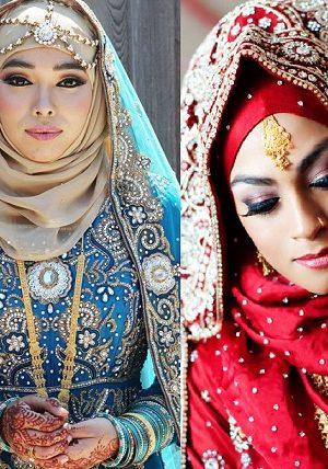 Latest Bridal Hijab Dresses Designs Collection 2016-2017