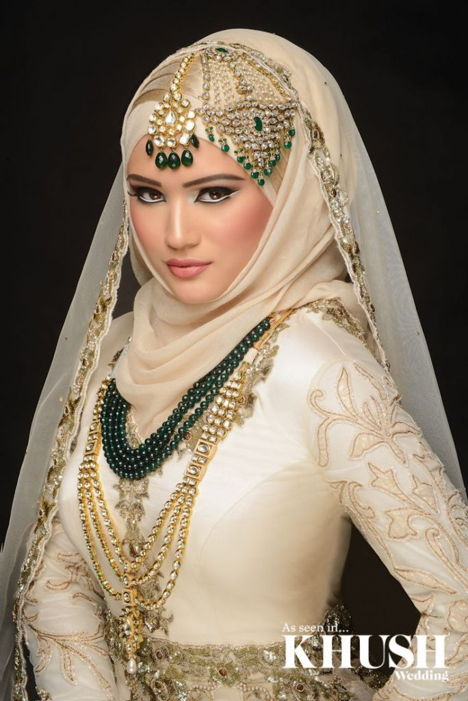 Latest bridal hijab dresses designs styles 2016 2017 for Current wedding dress styles