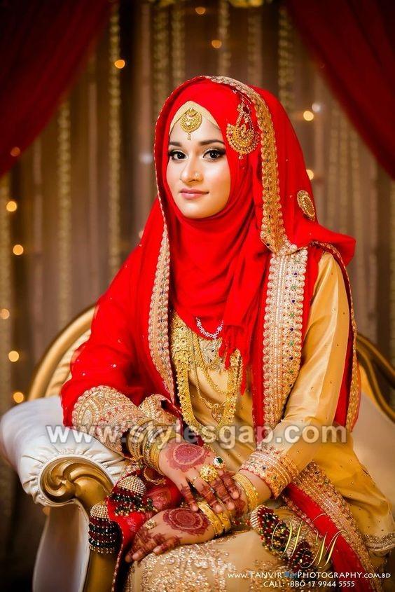 Latest Bridal Hijab Styles