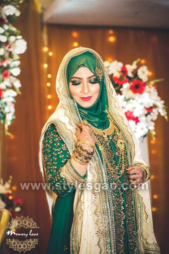 Latest Bridal Hijab Styles Dresses Designs Collection 2020 2021