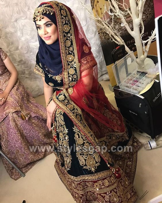 Latest Bridal Hijab Styles Dresses Designs Collection 2018 2019