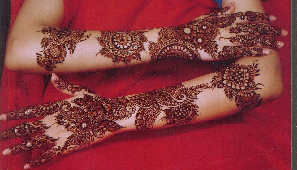 Mehndi Bridal Latest Design : Latest bridal mehndi designs collection  for
