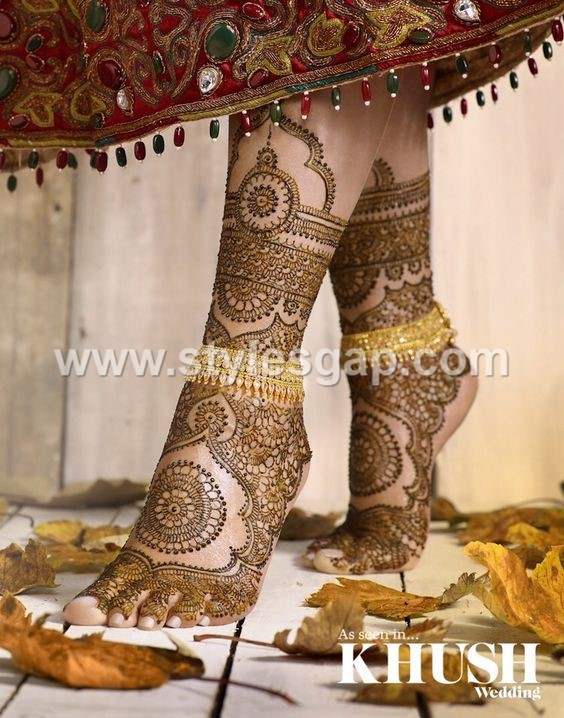 Bridal Mehndi Collection : Latest bridal mehndi designs collection  for