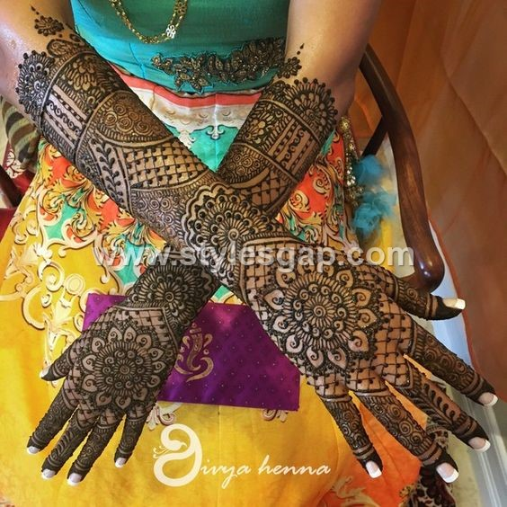 Mehndi Designs For Hands For Engagement : Latest bridal mehndi designs collection  for
