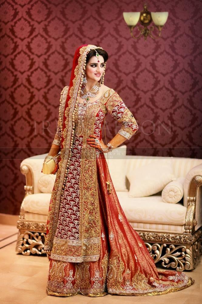 78fe26c99e Latest Pakistani Wedding Lehenga Dresses Collection 2016-2017 (7 ...