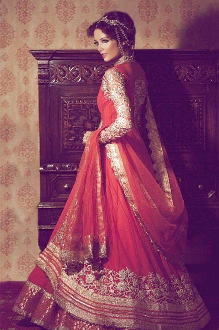 Pakistani Bridal Lehenga Dresses Designs & Styles 2016-2017