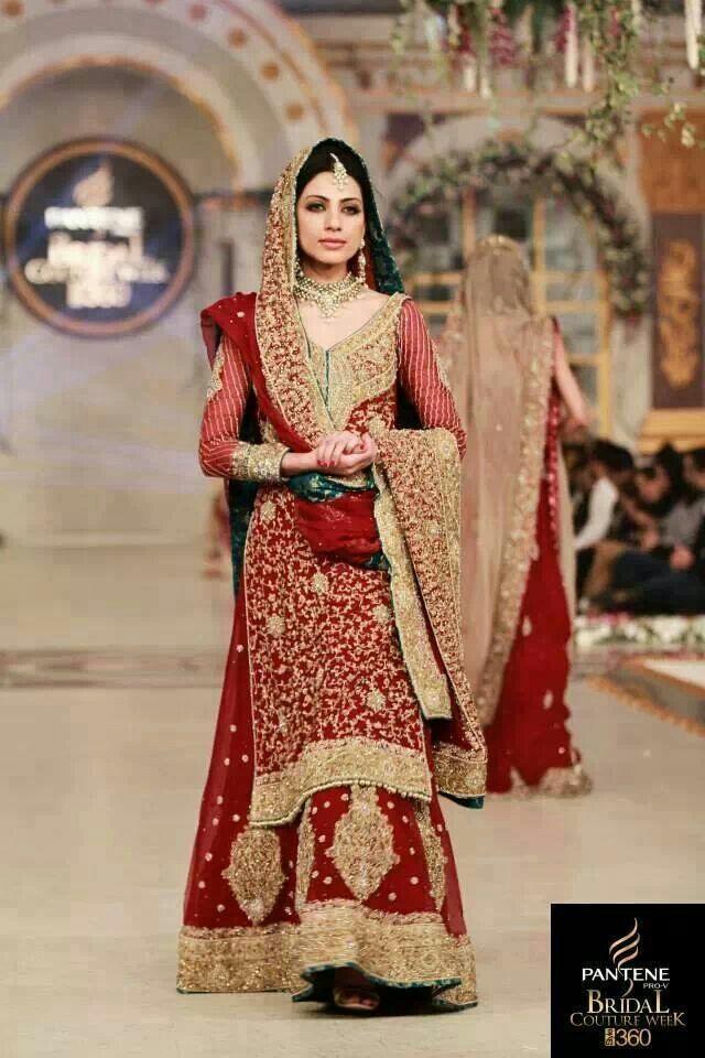 Latest Pakistani Wedding Lehenga Dresses Collection 2016-2017 for Brides (6)