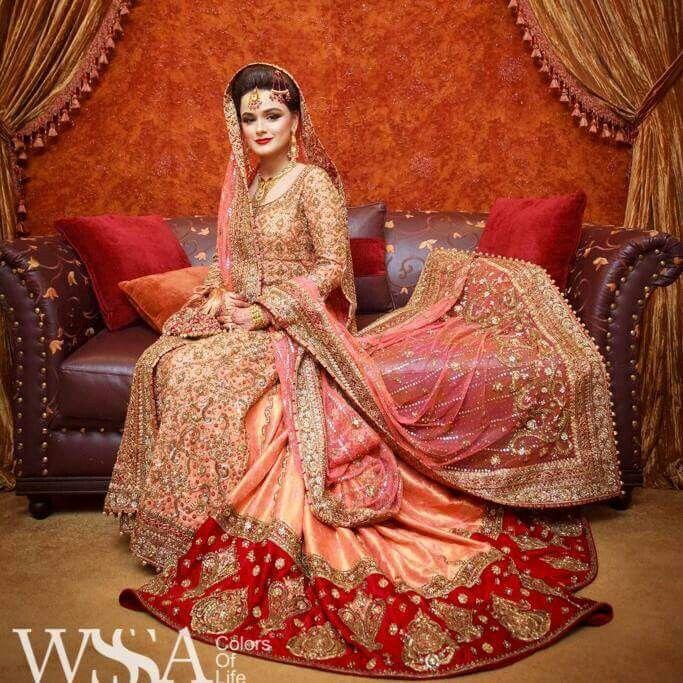 Latest Pakistani Wedding Lehenga Dresses Collection 2016-2017 for Brides (8)