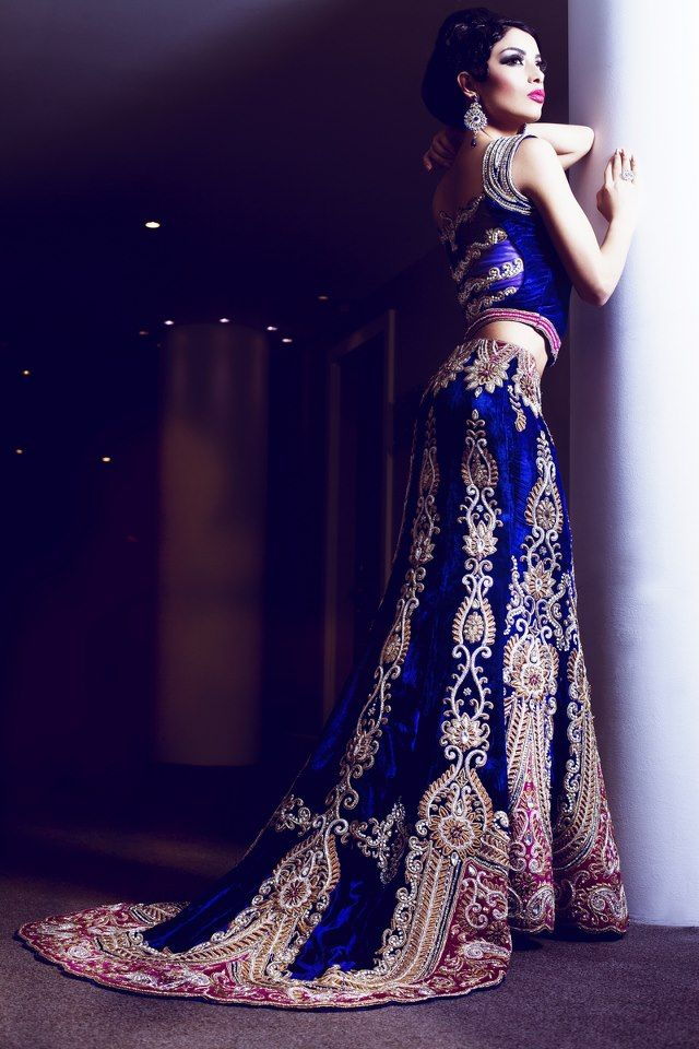 Lehenga with Trail