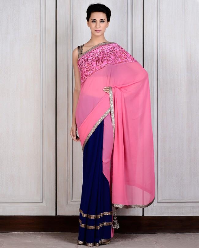 Manish Malhotra Latest Saree Designs Collection 2016-2017 (28)