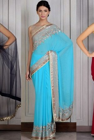 Manish Malhotra Latest Saree Designs Collection 2016-2017